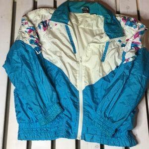 Vintage Second Wind Nylon Jacket Ruffled Sleeves